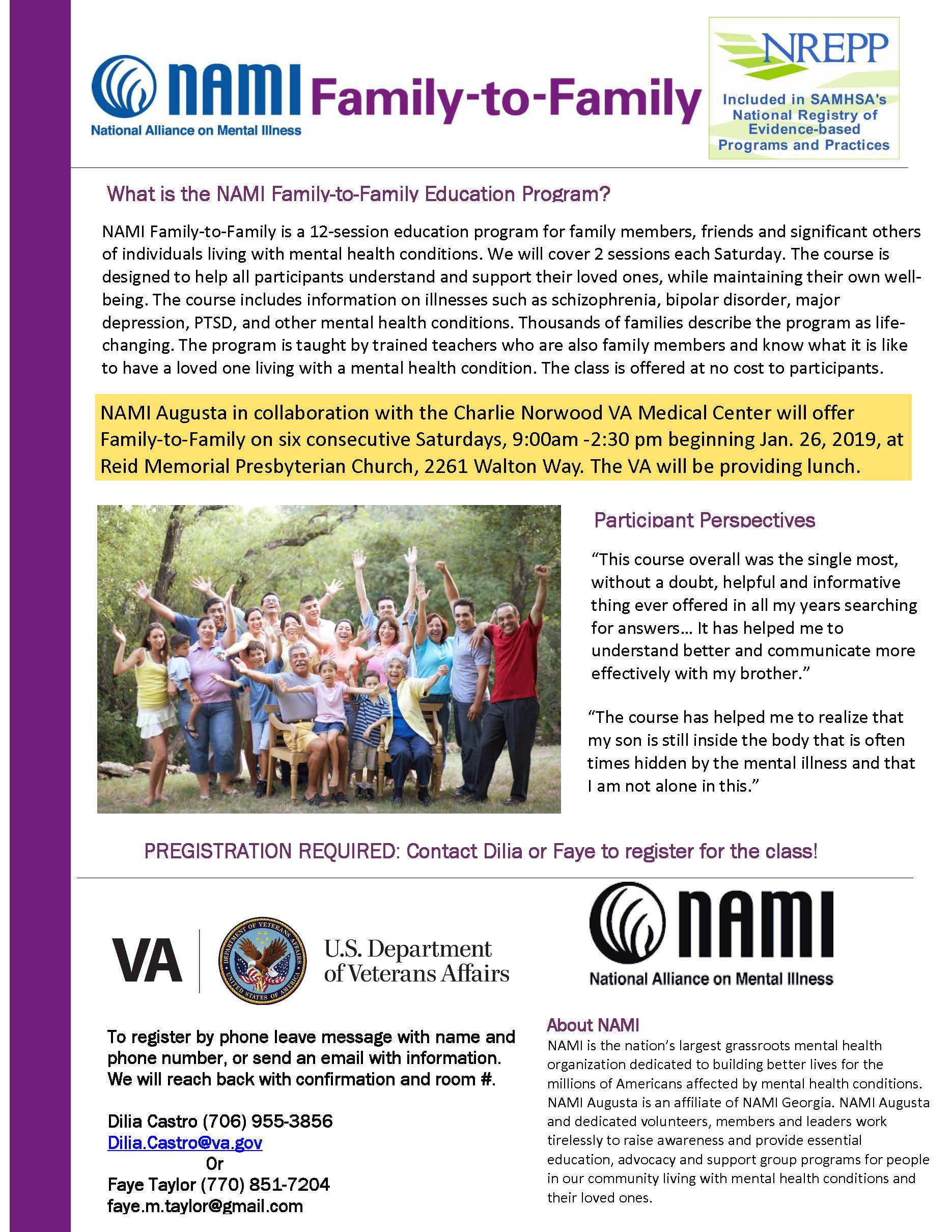 Welcome To Nami Augusta Get Involved Donate Or View Our Resources