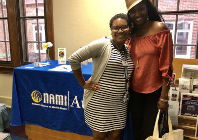 NAMI Augusta President, Hillary Gaines and Artist, Nikki Rhyne June 2019