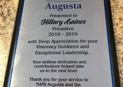Hillary Gaines Recognition, July 2019